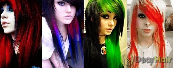 Разноцветные пряди