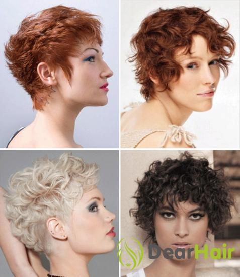 Короткие стрижки на вьющиеся волосы, содные варианты