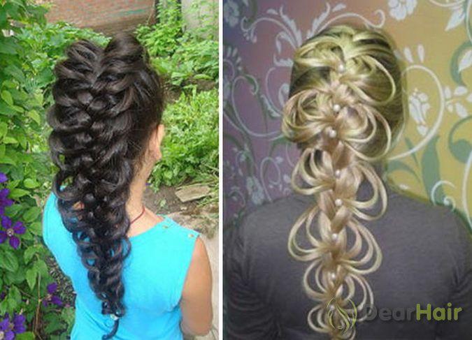 Косы для длинных волос плетение