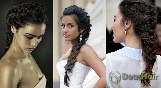 плетение кос средней длины волос