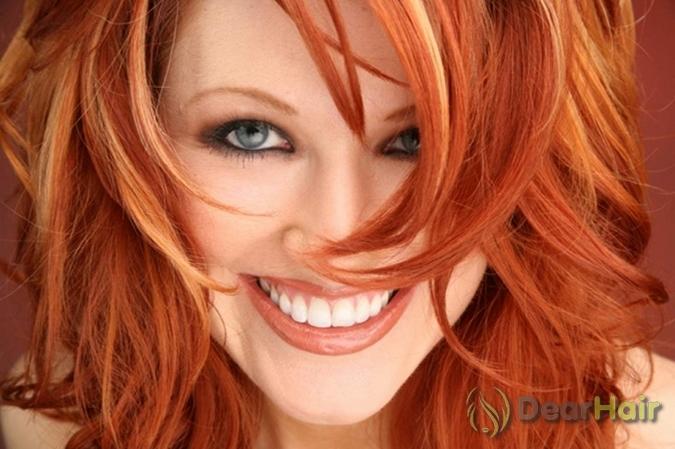 Рыжий цвет краски для волос