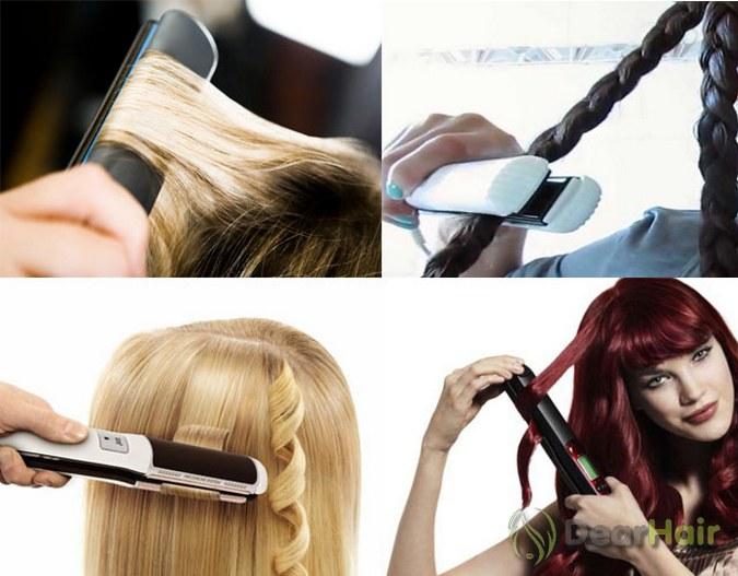 Укладка утюжком на средние волосы в домашних условиях 455