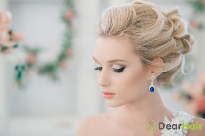 Прически на средние волосы для невесты с фатой