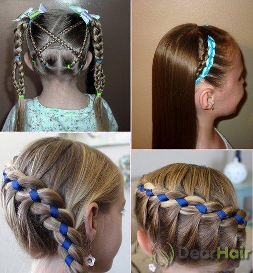 Прически детские на длинные волосы с резинками