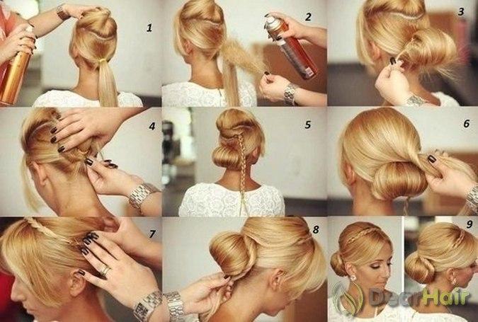 Как самой сделать себе причёску на свадьбу