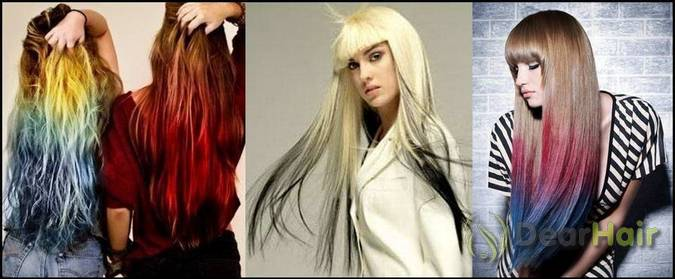 покрасить волосы в два цвета фото