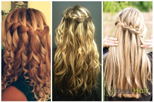 Фото прически с косами на волосы средней длины