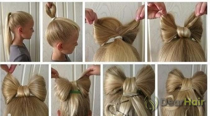 Бантик для волос фото