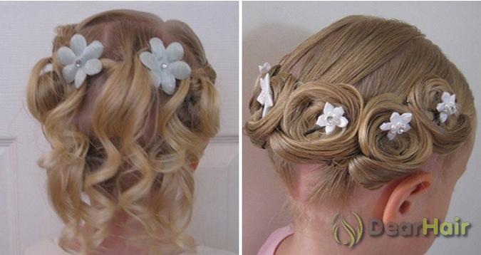 Прическа для девочки с бантиками из волос