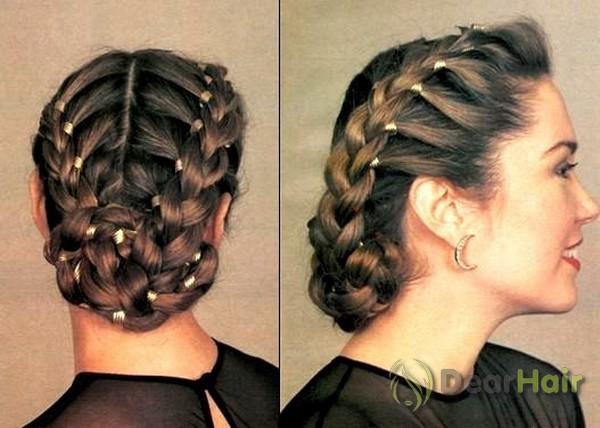 Причёски на длинные волосы с силиконовыми резинками