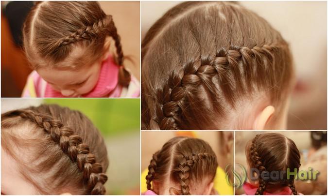 Детские прически плетение для девочек фото и как их делать