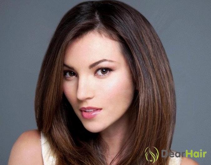 Стрижка на средние волосы для длинного лица