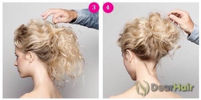Красивые прически на средние волосы из кудрей