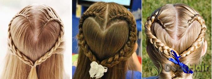 Плетение кос плетение волос сердце