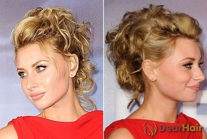 Вечерние причёски на средние волосы плетение