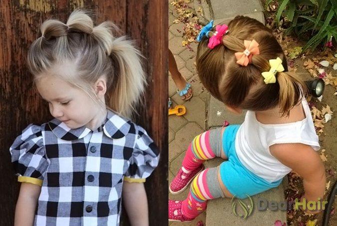 Причёски на короткие волосы своими руками ребёнку