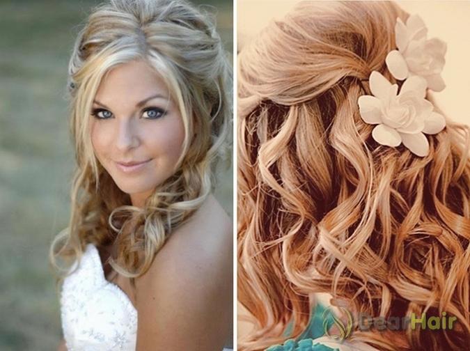 Праздничные причёски на волосы средней длины