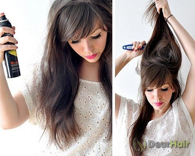 Прическа своими руками прямые волосы