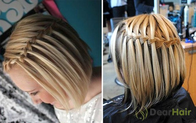 Прически на короткие волосы школьные