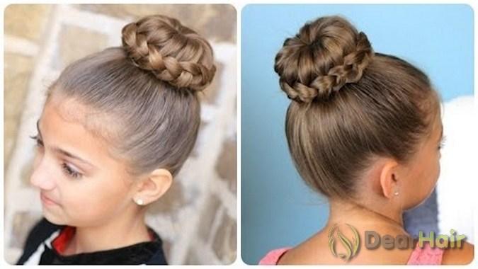 Прически для девочек на длинные волос шишки