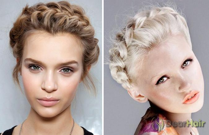 Плетение кос из резинок на средние волосы