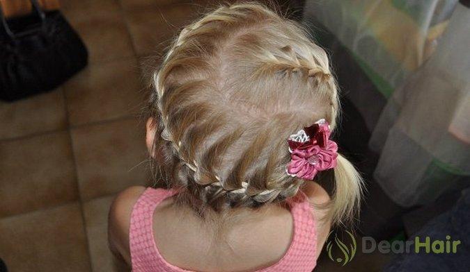 Простые прически из косичек с короткими волосами