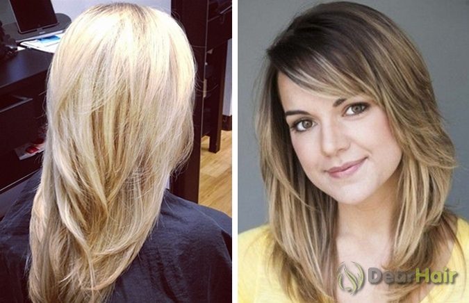 Прическа на средние волосы фото с объемом