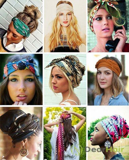 Как красиво завязать платок на голове, если у Вас короткие 24