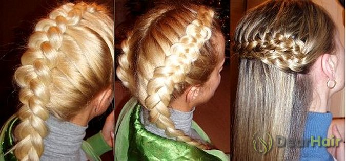 Две французские плетение кос