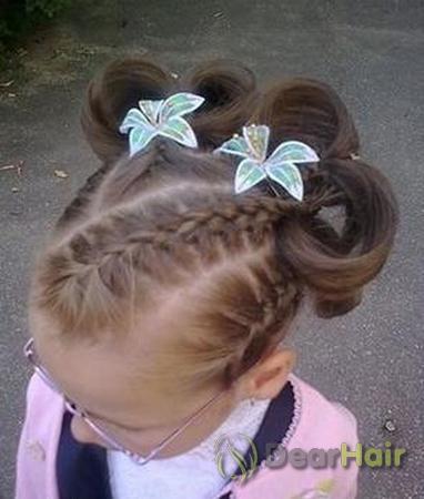 Как сделать маленькой девочке хвостики