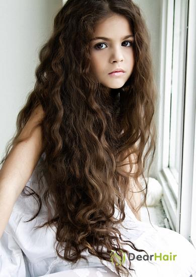 Прически с кудрявыми волосами для девочек