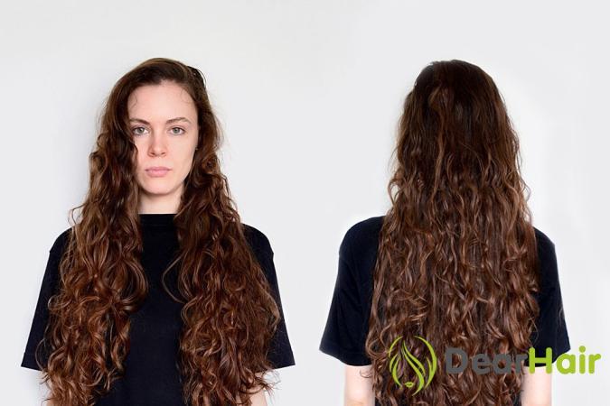 Кудрявые волосы с помощью косичек