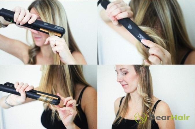 Как сделать кудри выпрямителем на средние волосы