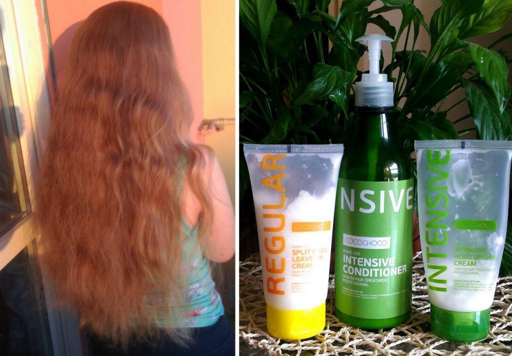 Увлажнить кончики волос кремом